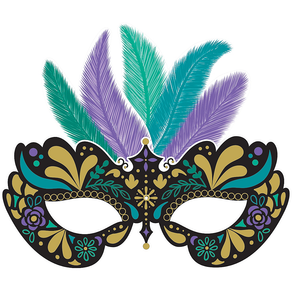 Jointed A Night in Disguise Masquerade Mask Cutout Image #1