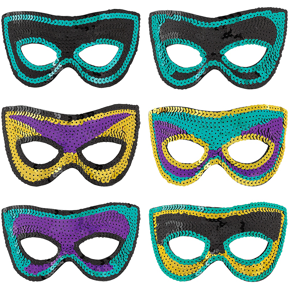 A Night in Disguise Masquerade Eye Masks 6ct Image #1