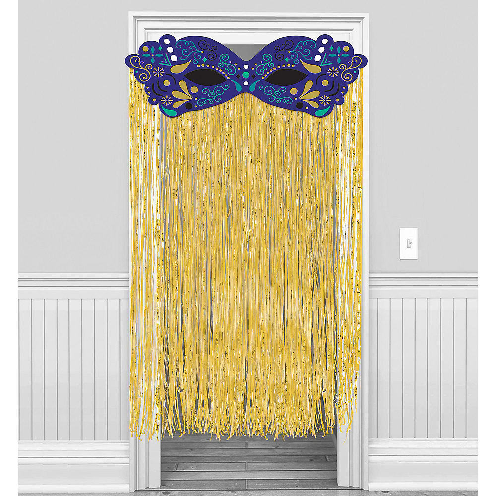 Nav Item for A Night in Disguise Masquerade Doorway Curtain Image #1