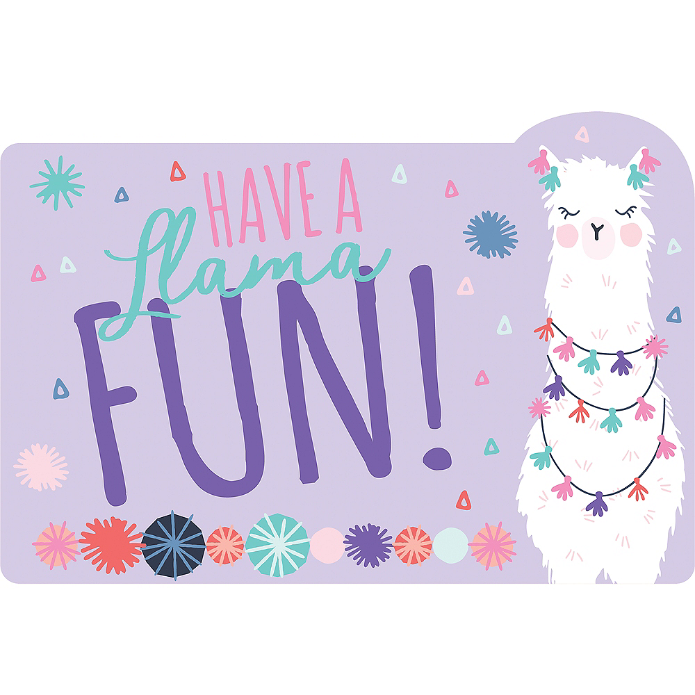 Llama Fun Invitations 8ct Image #1