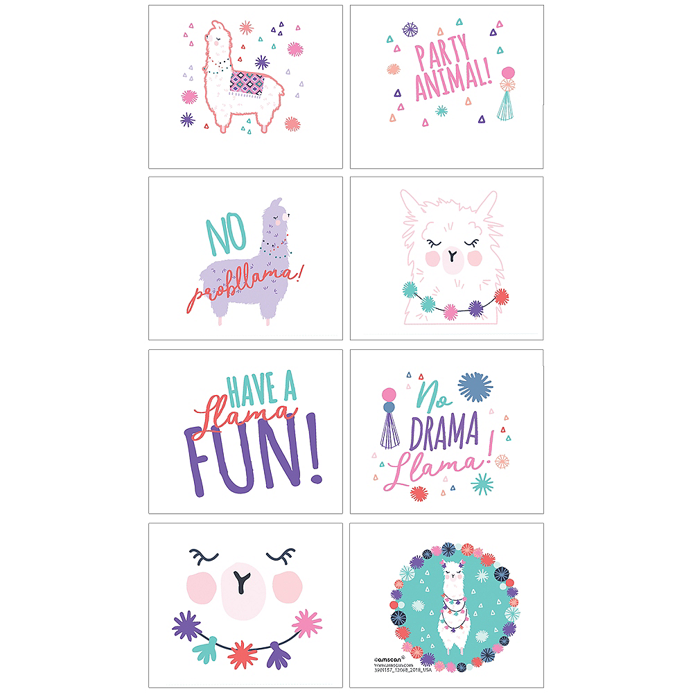 Llama Fun Tattoos 1 Sheet Image #1