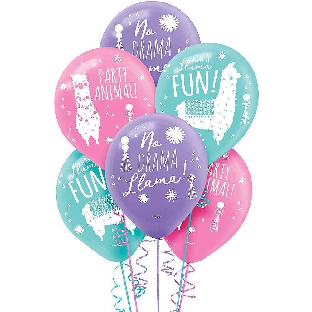 Llama Fun Balloons 6ct Image #1