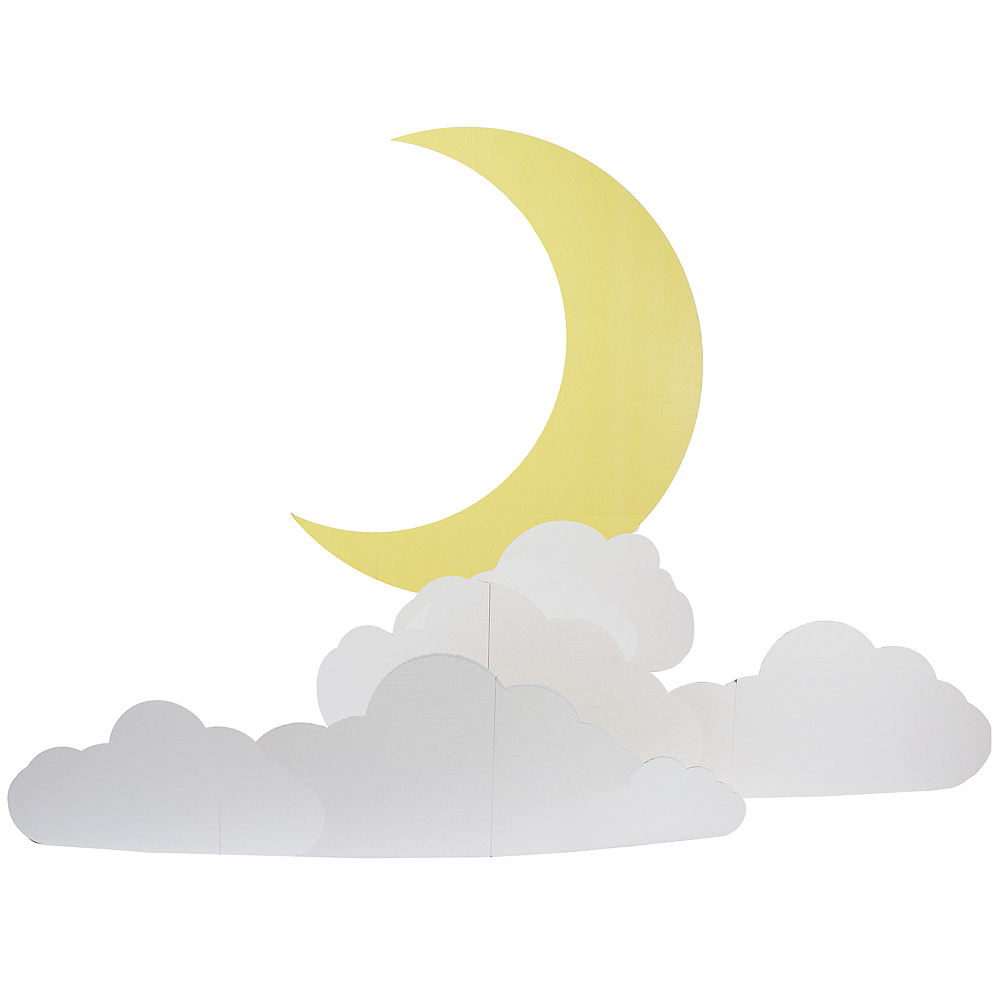 Moon & Clouds Cardboard Cutout Image #1