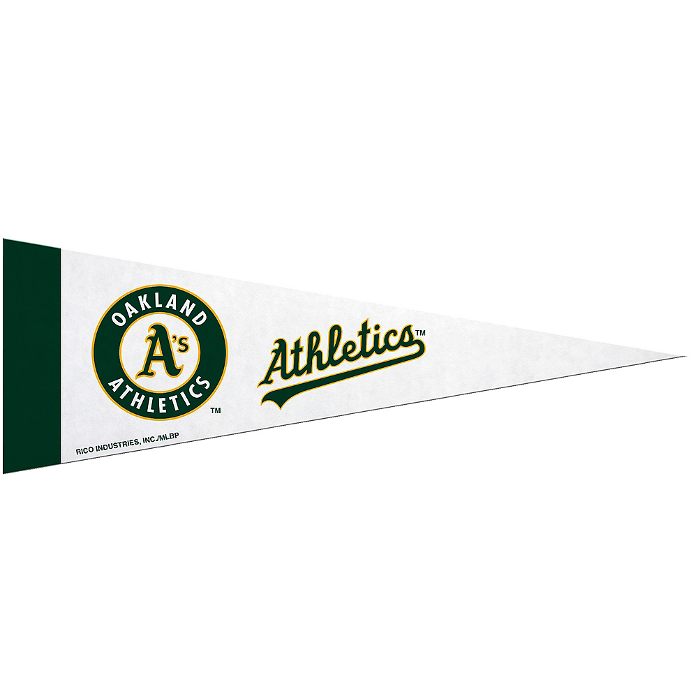 Nav Item for Medium Oakland Athletics Pennant Flag Image #1