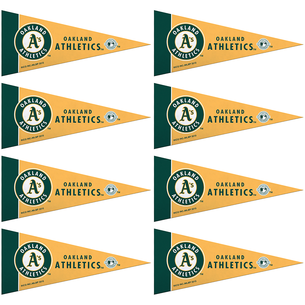 Mini Oakland Athletics Pennant Flags 8ct Image #1