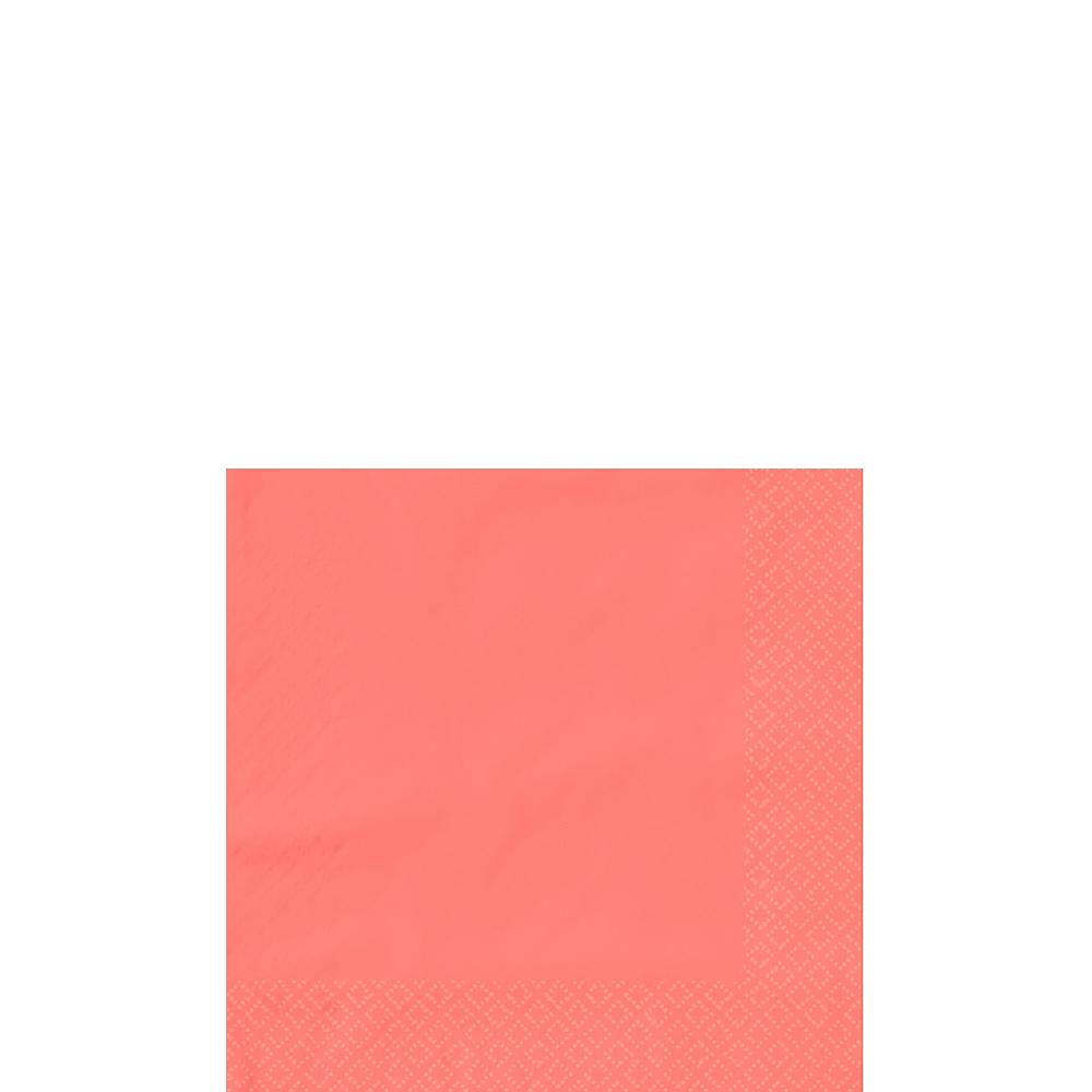 Bright Coral Beverage Napkins 50ct Image #1