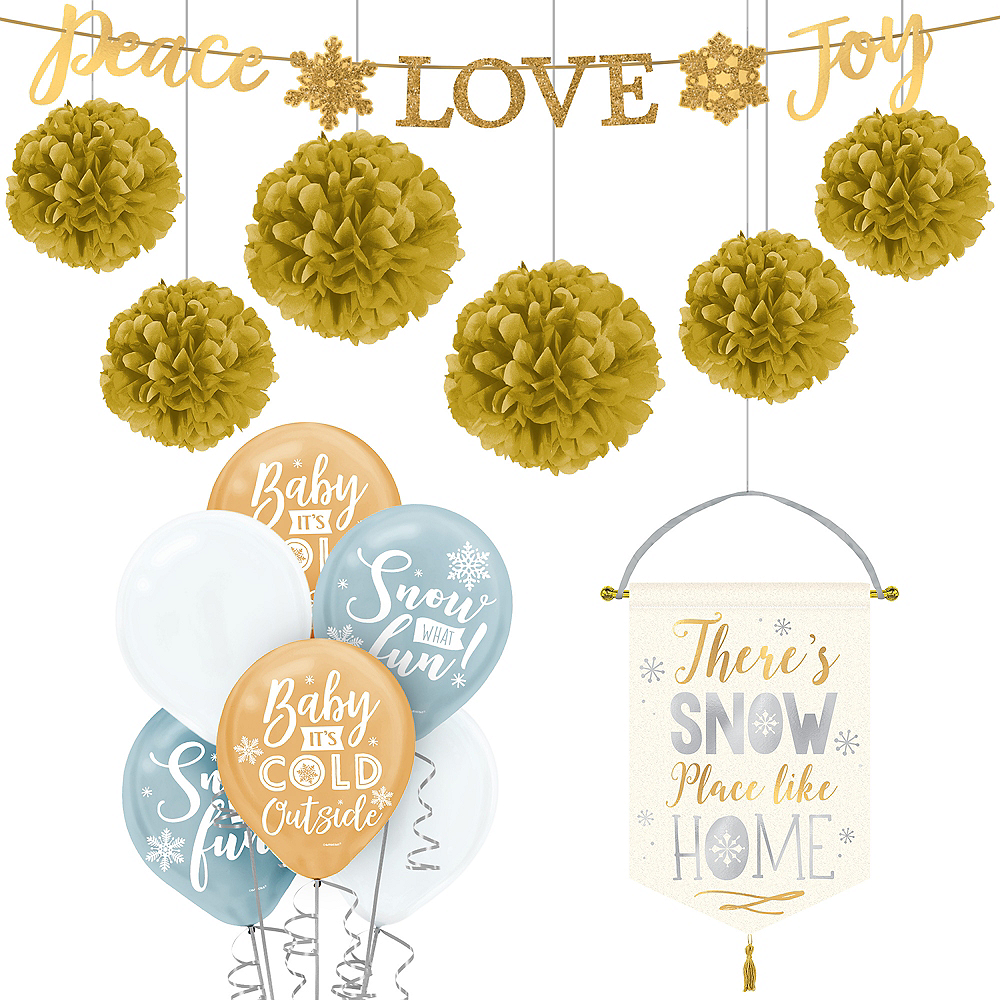 Deluxe Gold Christmas Decorating Kit Image #1