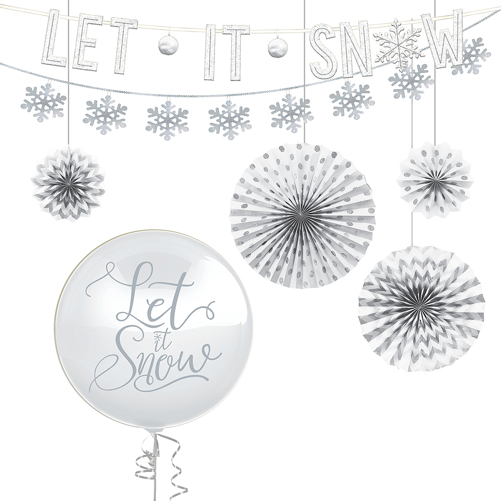 Deluxe Let it Snow Winter Decorating Kit Image #1