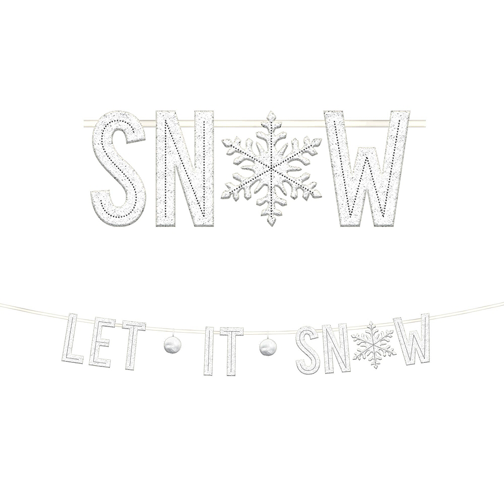 Deluxe Let it Snow Winter Decorating Kit Image #2