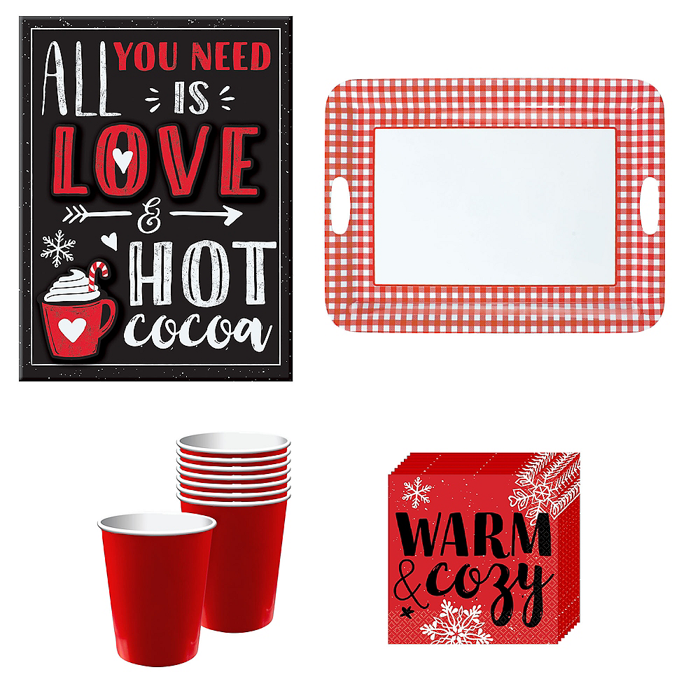 Warm & Cozy Hot Cocoa Bar Kit for 32 Guests Image #1