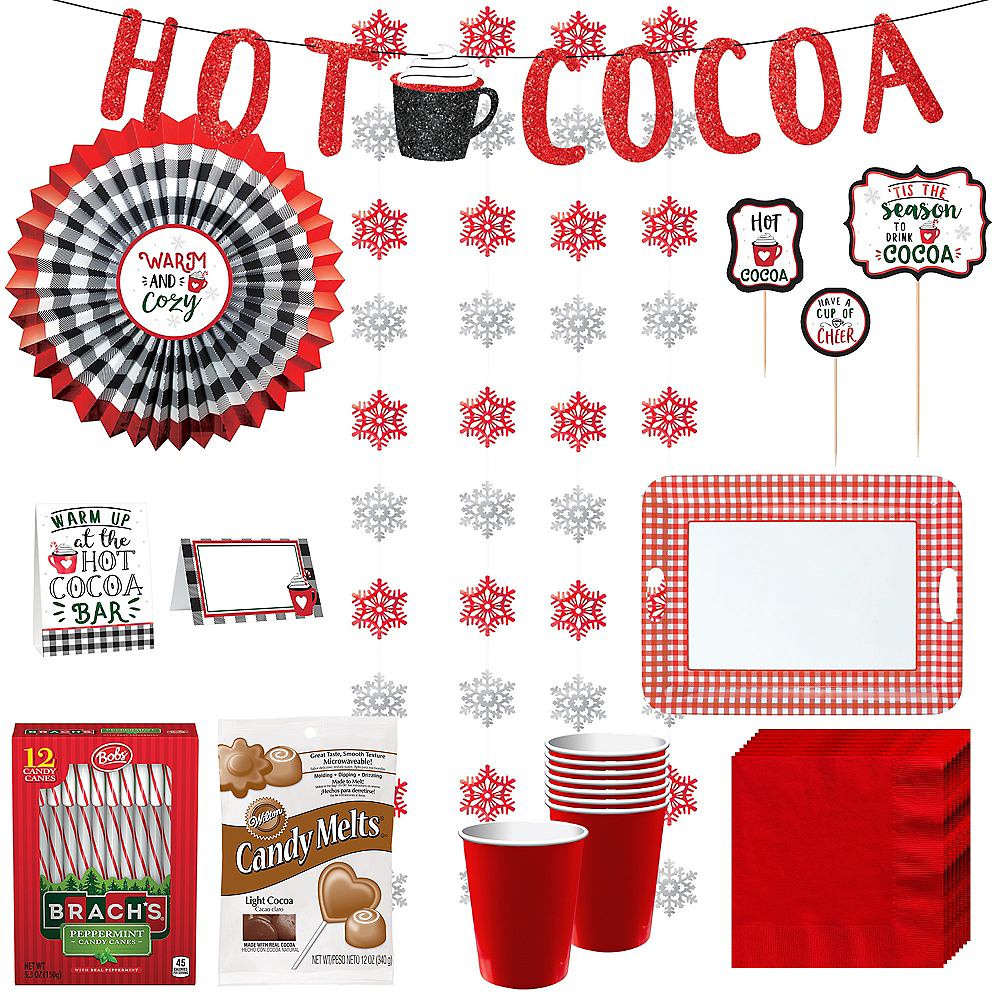 Deluxe Warm & Cozy Hot Cocoa Bar Kit for 32 Guests Image #1