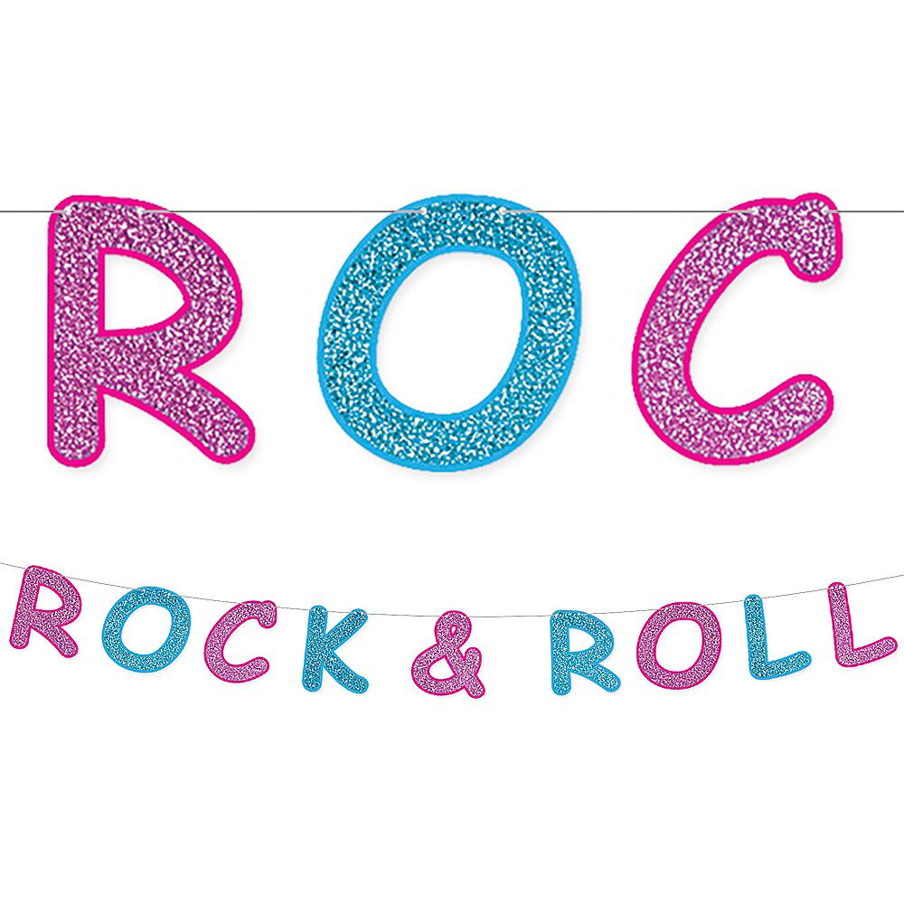 Glitter Rock 'n' Roll 50s Letter Banner Image #1