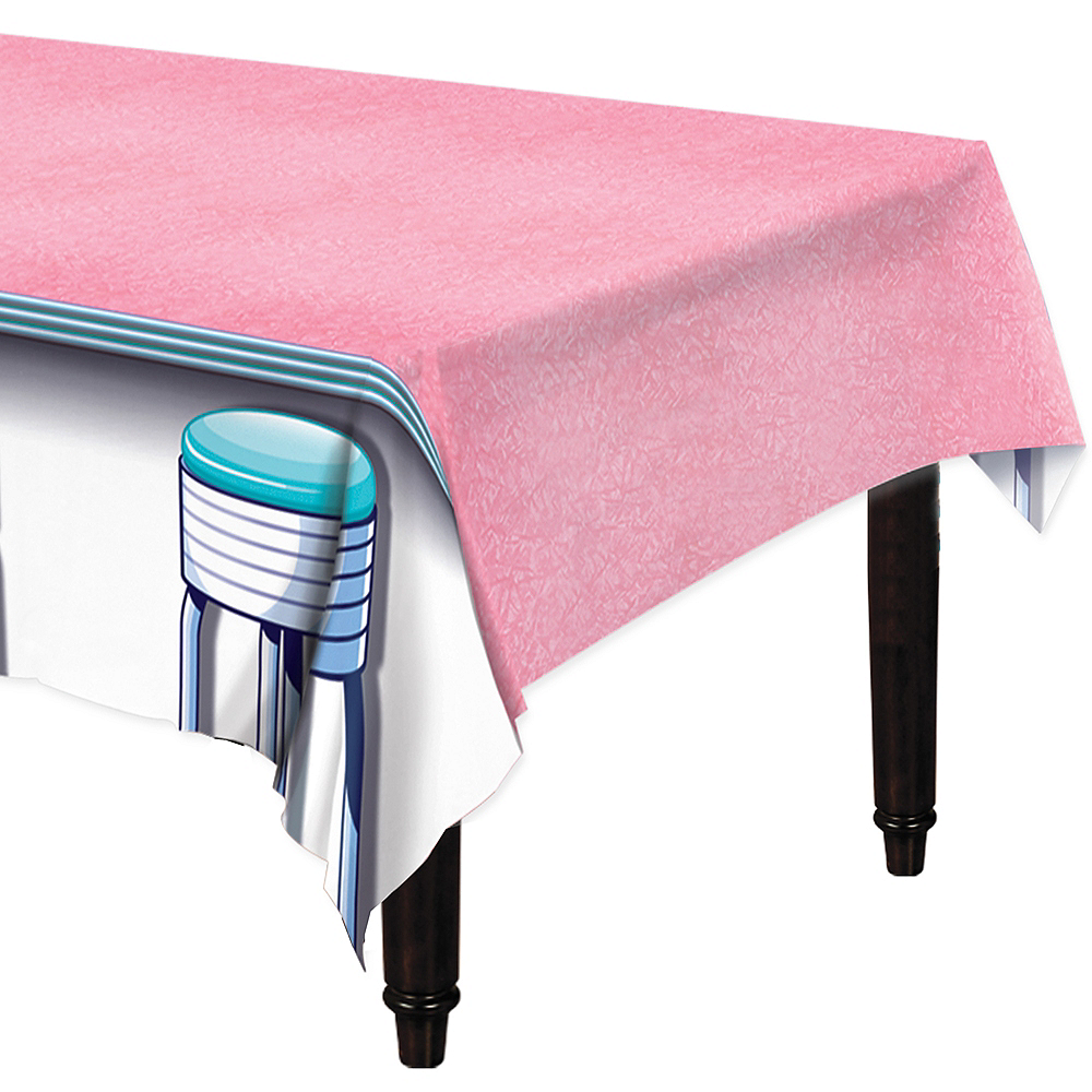 50s Diner Stool Table Cover Image #1