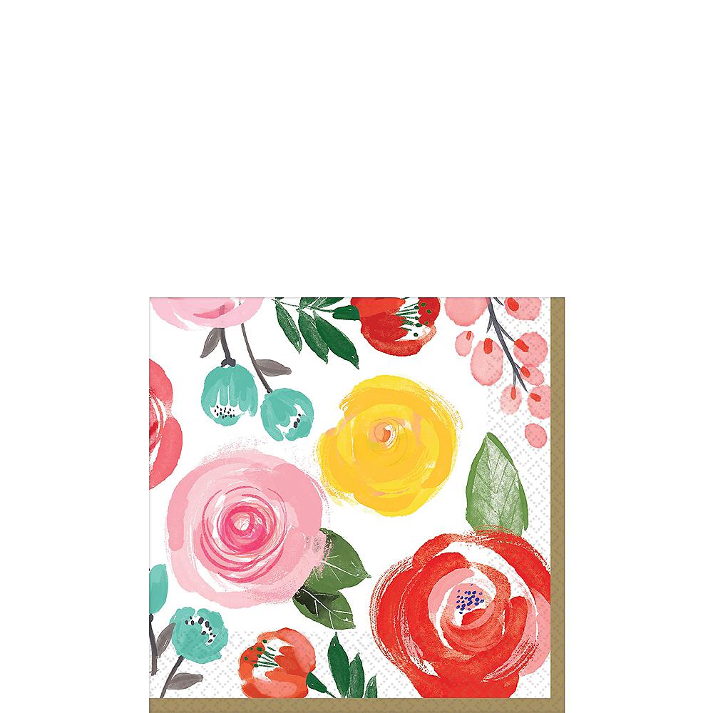 Bright Floral Beverage Napkins 16ct Image #1