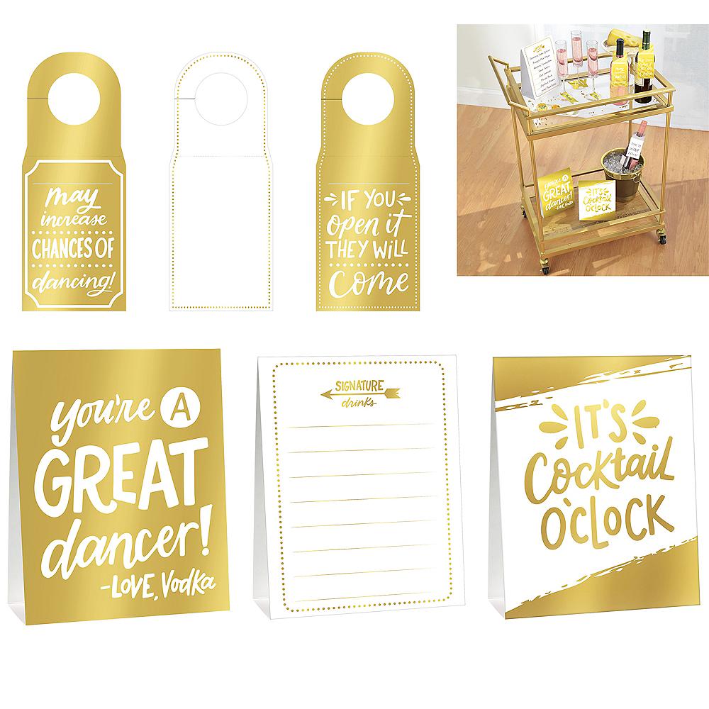 Metallic Gold Bar Decorating Kit 12pc Image #1