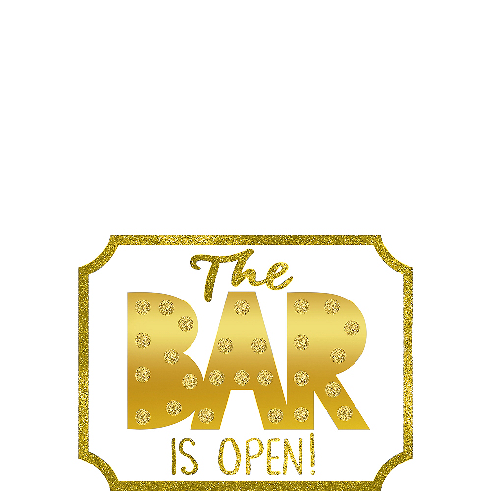 Mini Bar is Open Easel Sign Image #1