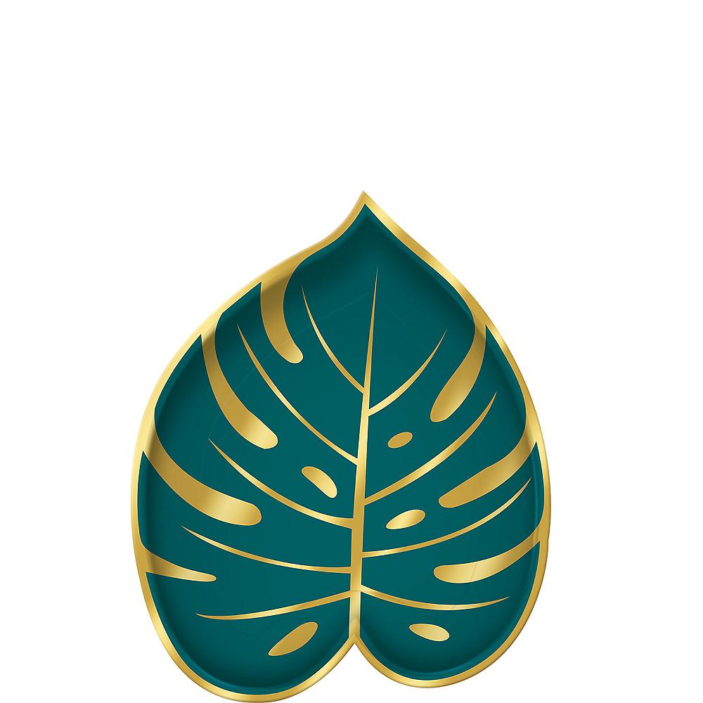 Shaped Key West Palm Leaf Dessert Plates 8ct Image #1