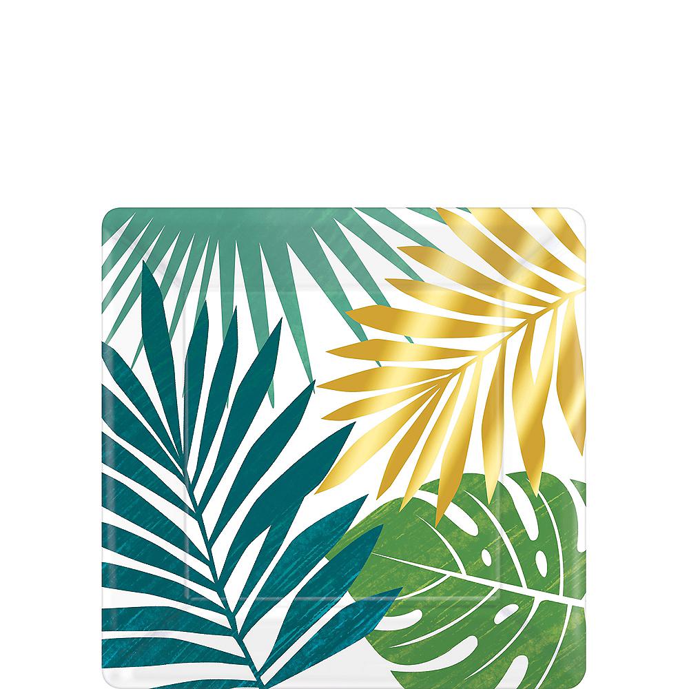 Key West Palm Leaf Dessert Plates 8ct Image #1