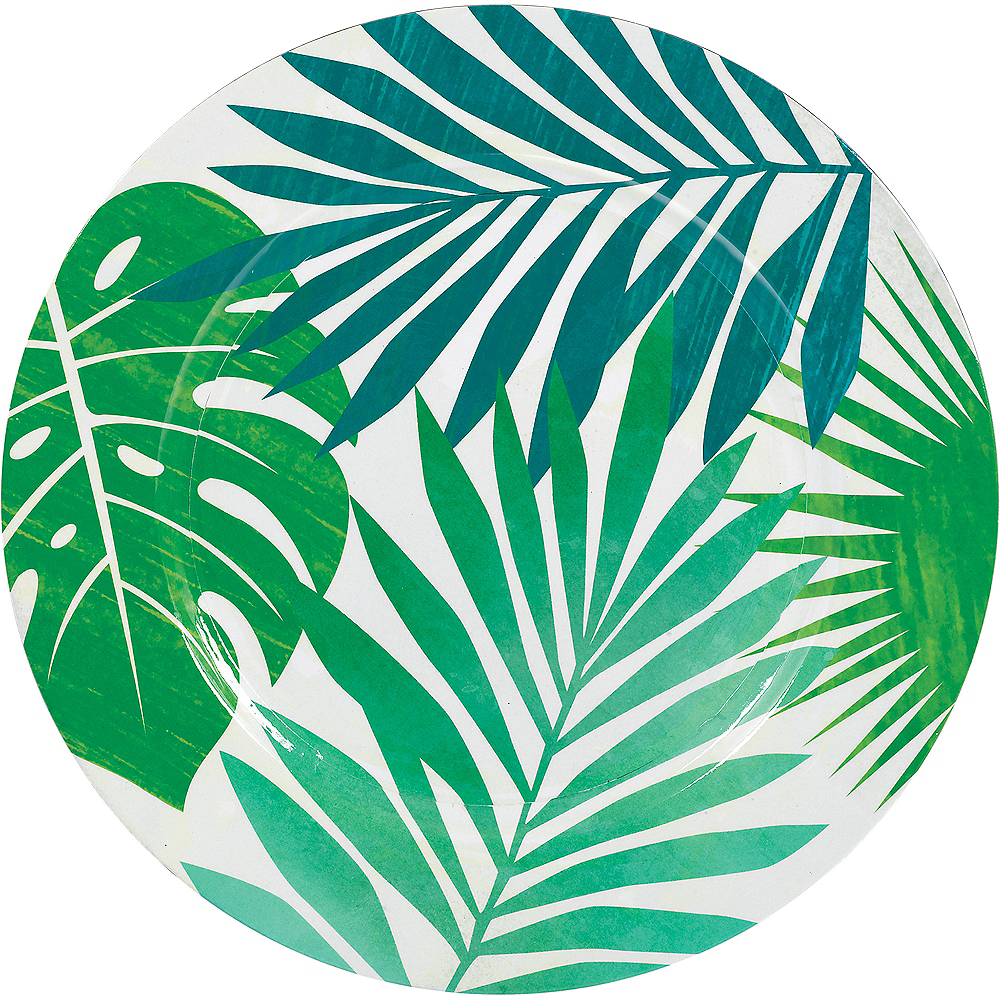 Key West Palm Leaf Plastic Charger Image #1