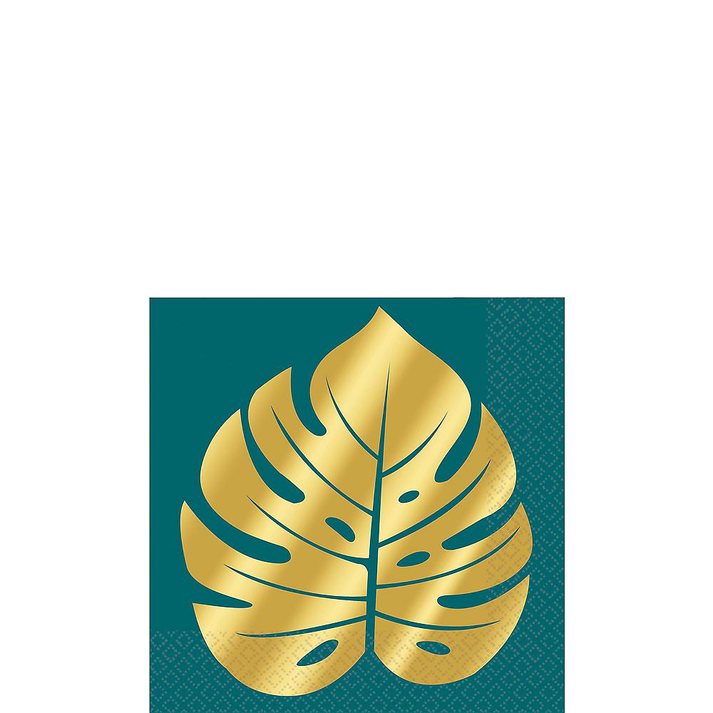 Metallic Gold Key West Palm Leaf Beverage Napkins 16ct Image #1