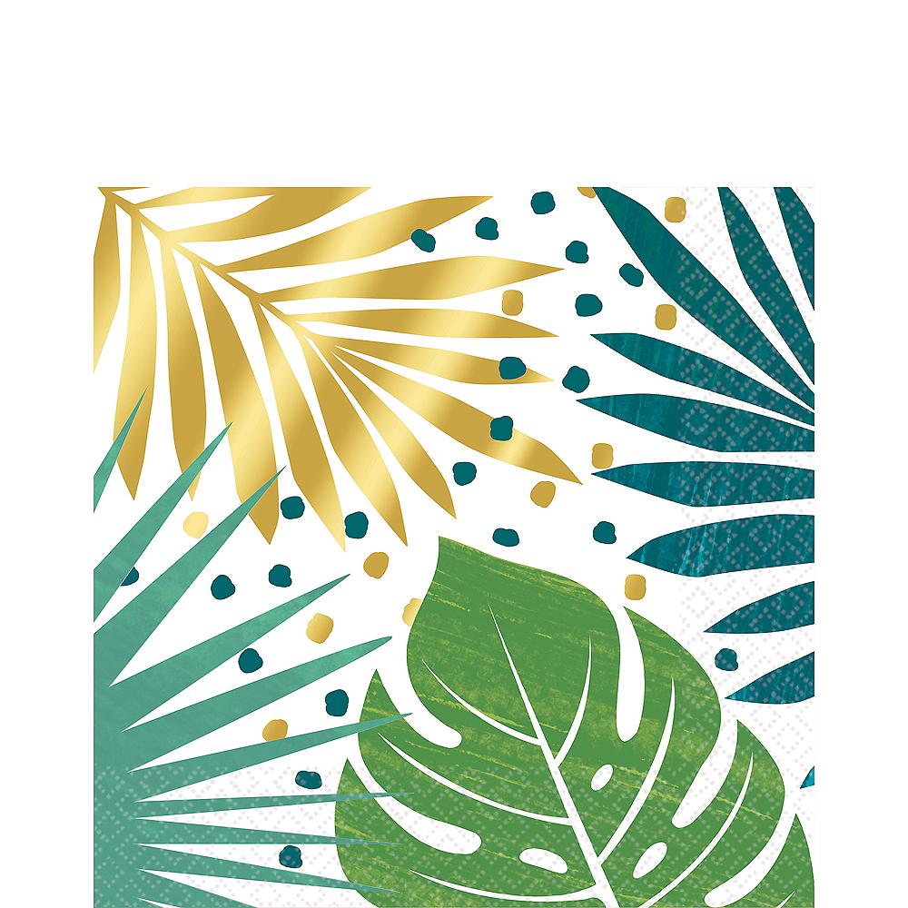 Metallic Gold Key West Palm Leaf Lunch Napkins 16ct Image #1