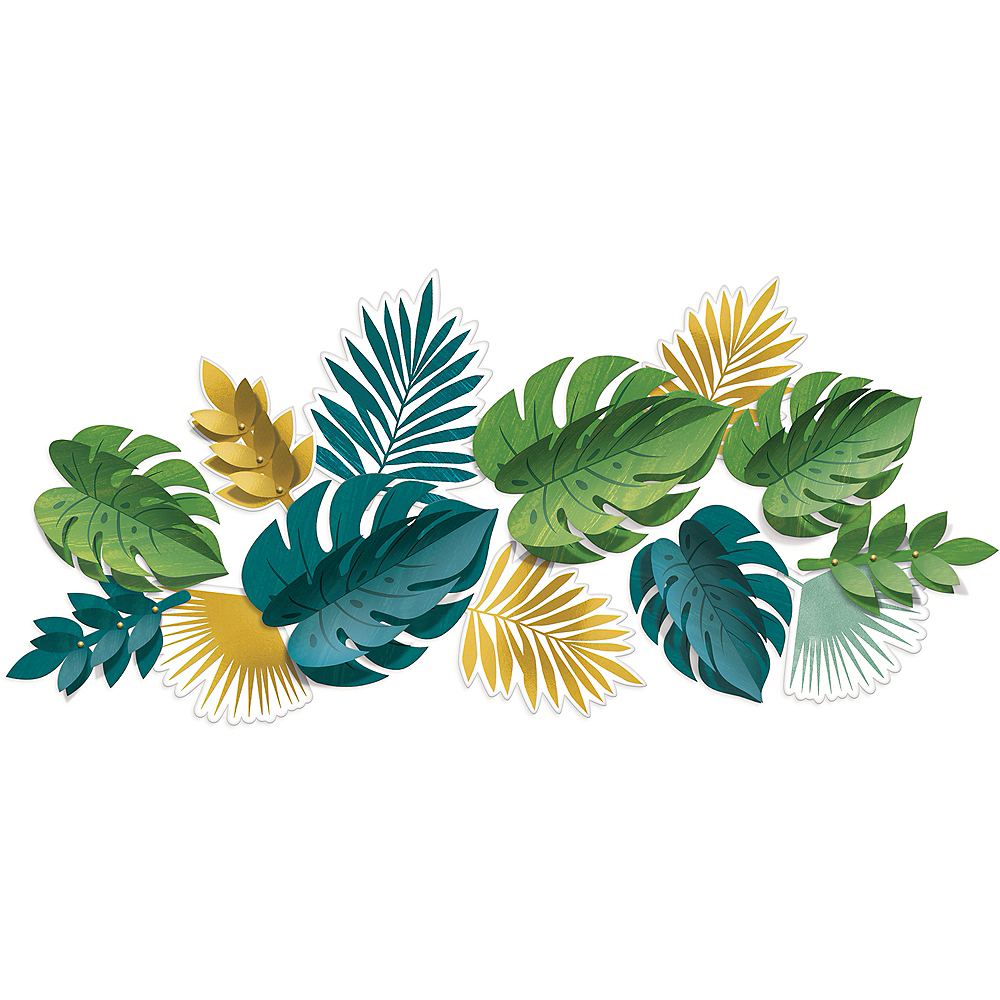 Nav Item for Key West Palm Leaf Cutouts 13ct Image #1
