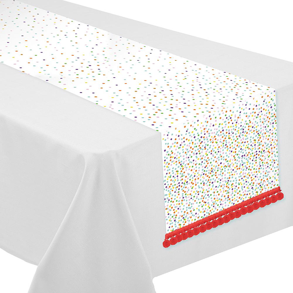 Rainbow Confetti Table Runner Image #1