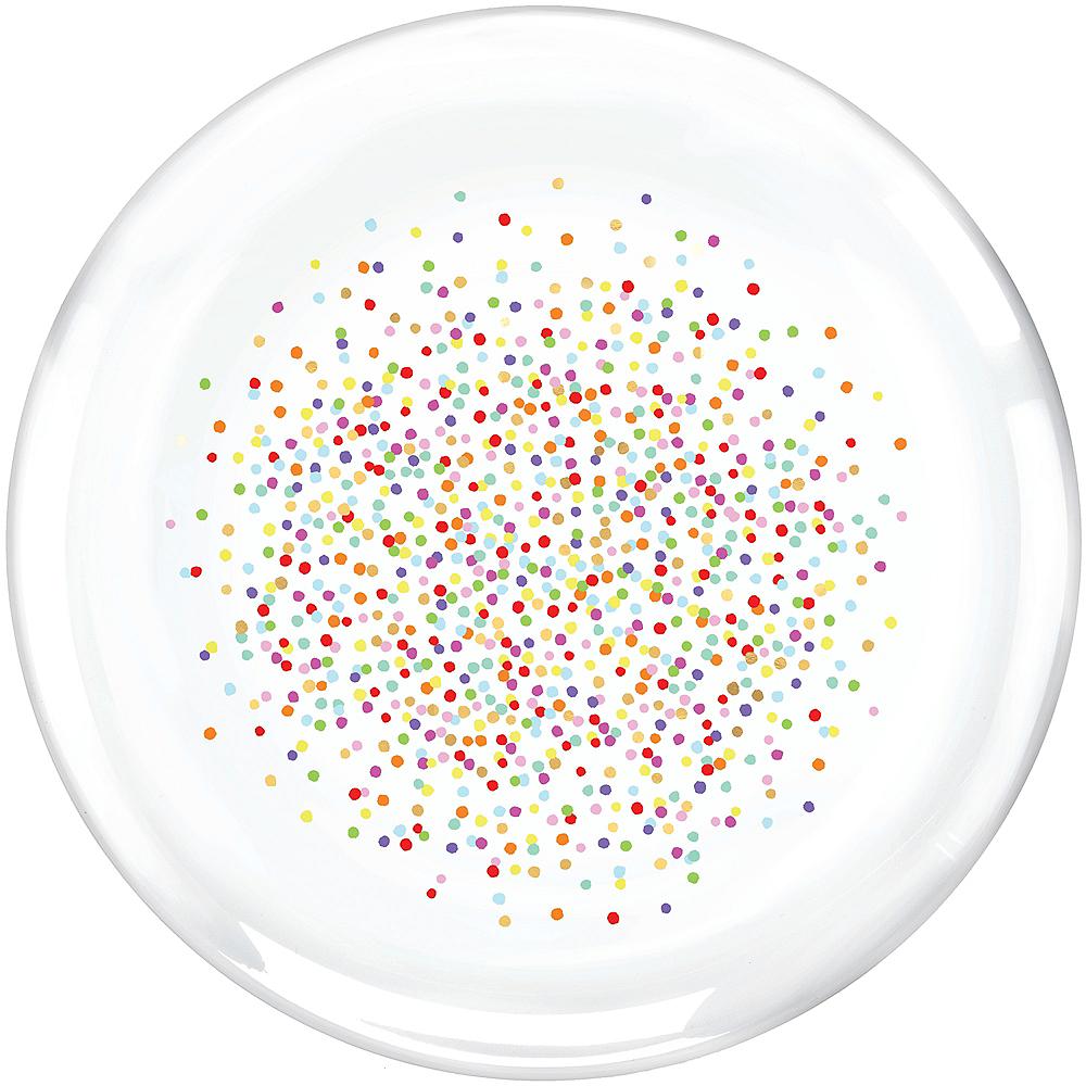 Rainbow Confetti Round Platter Image #1
