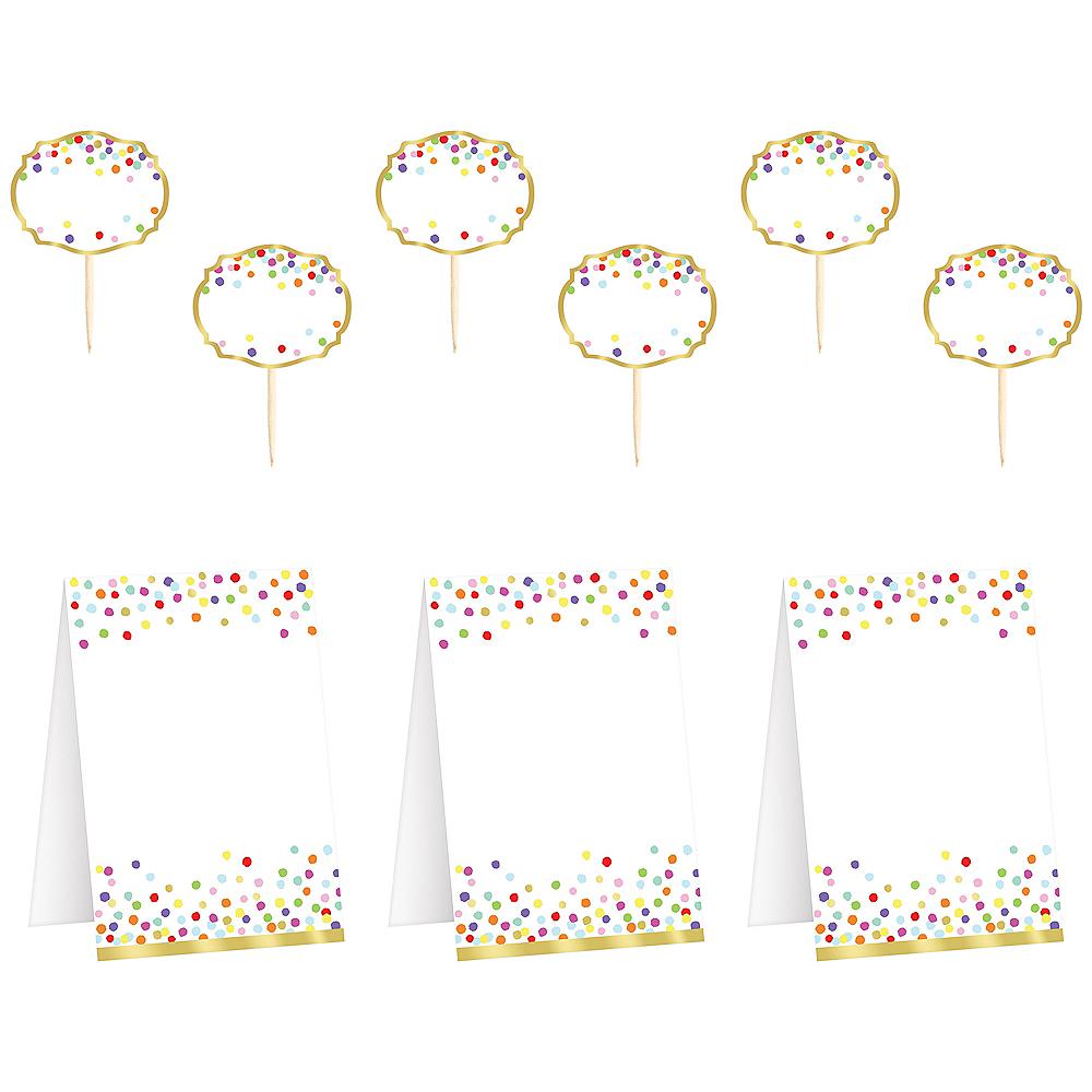 Rainbow Confetti Buffet Decorating Kit 16pc Image #1
