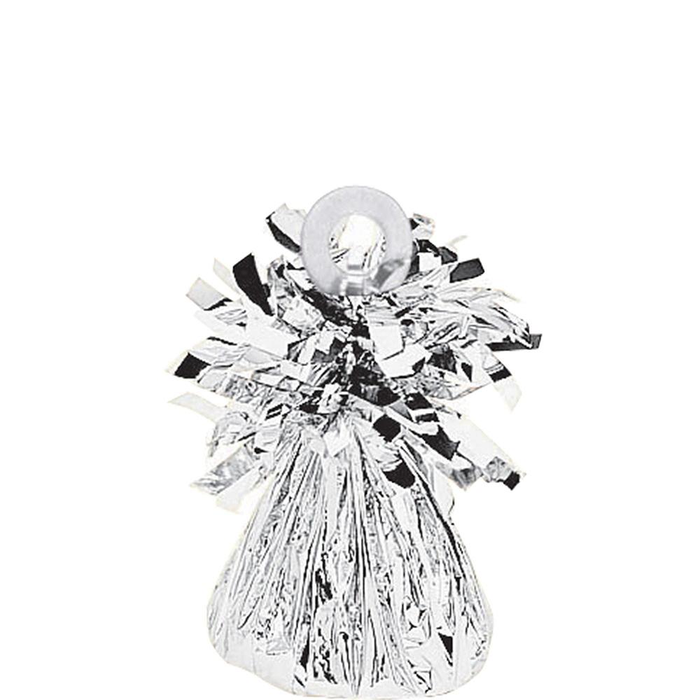 34in Silver Boy Letter Balloon Kit Image #2
