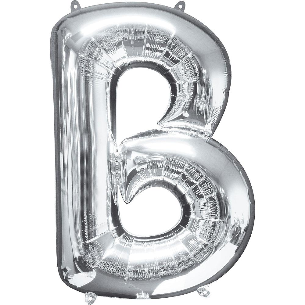 34in Silver Boy Letter Balloon Kit Image #3