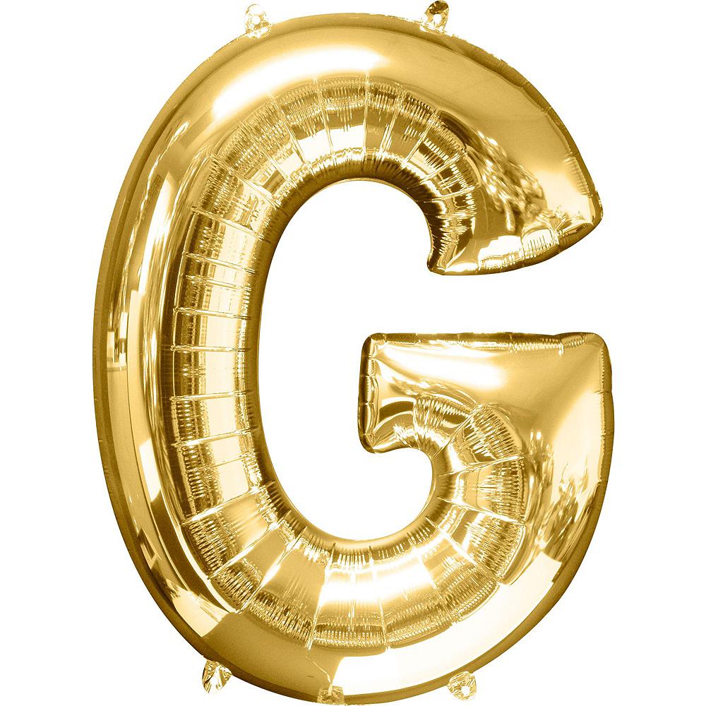 Giant Gold Girl Letter Balloon Kit Image #3