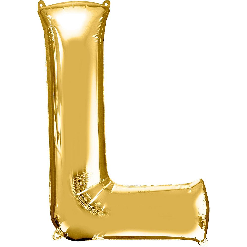 Giant Gold Girl Letter Balloon Kit Image #5