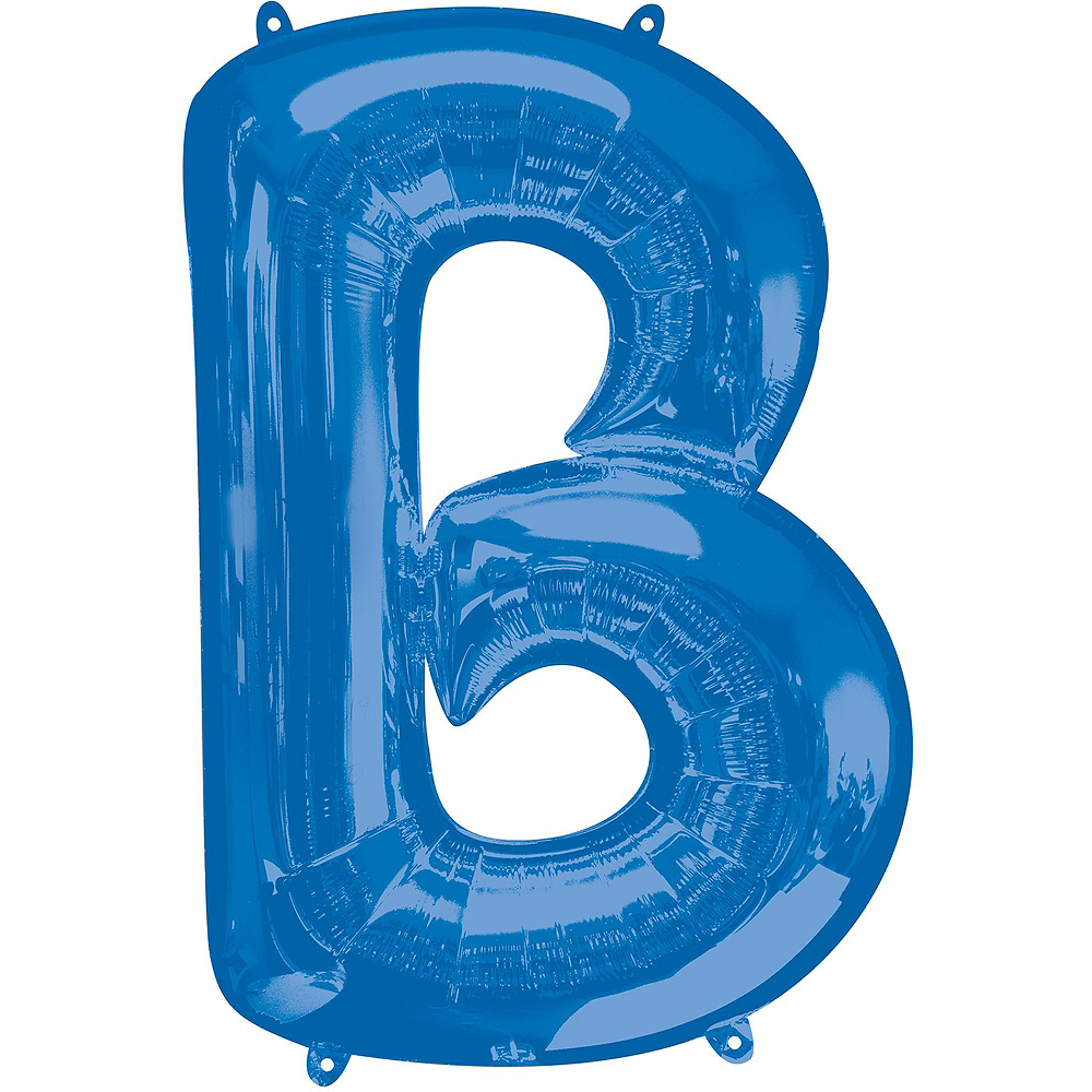 34in Blue Baby Letter Balloon Kit Image #4