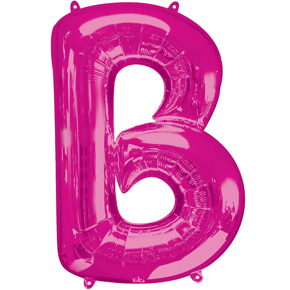 34in Pink Baby Letter Balloon Kit Image #3