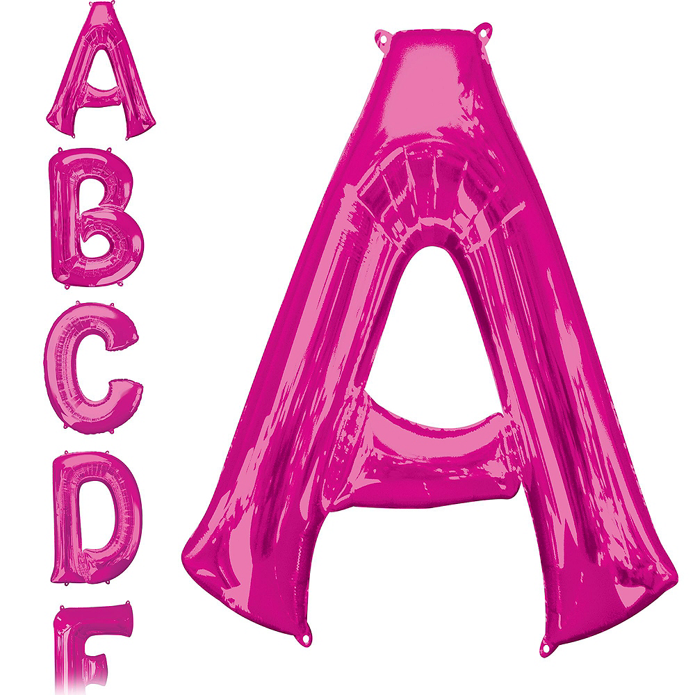 34in Pink Baby Letter Balloon Kit Image #5