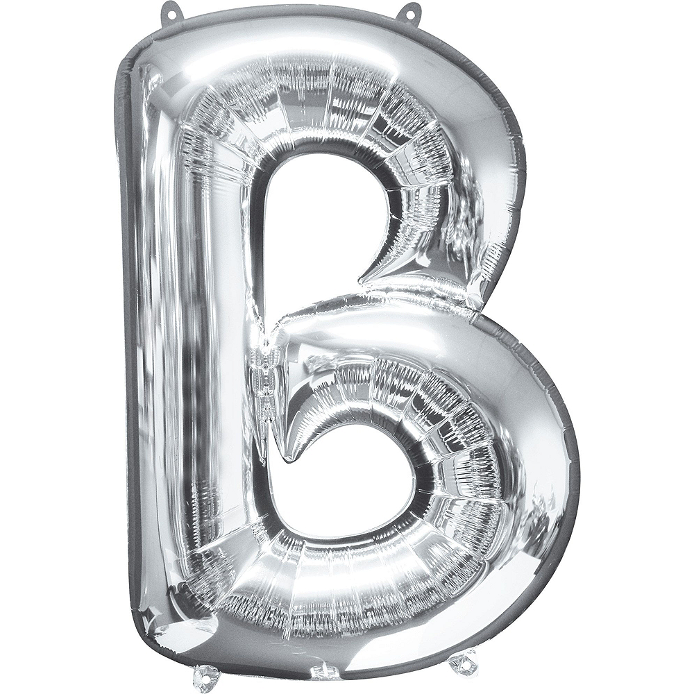 34in Silver Baby Letter Balloon Kit Image #4