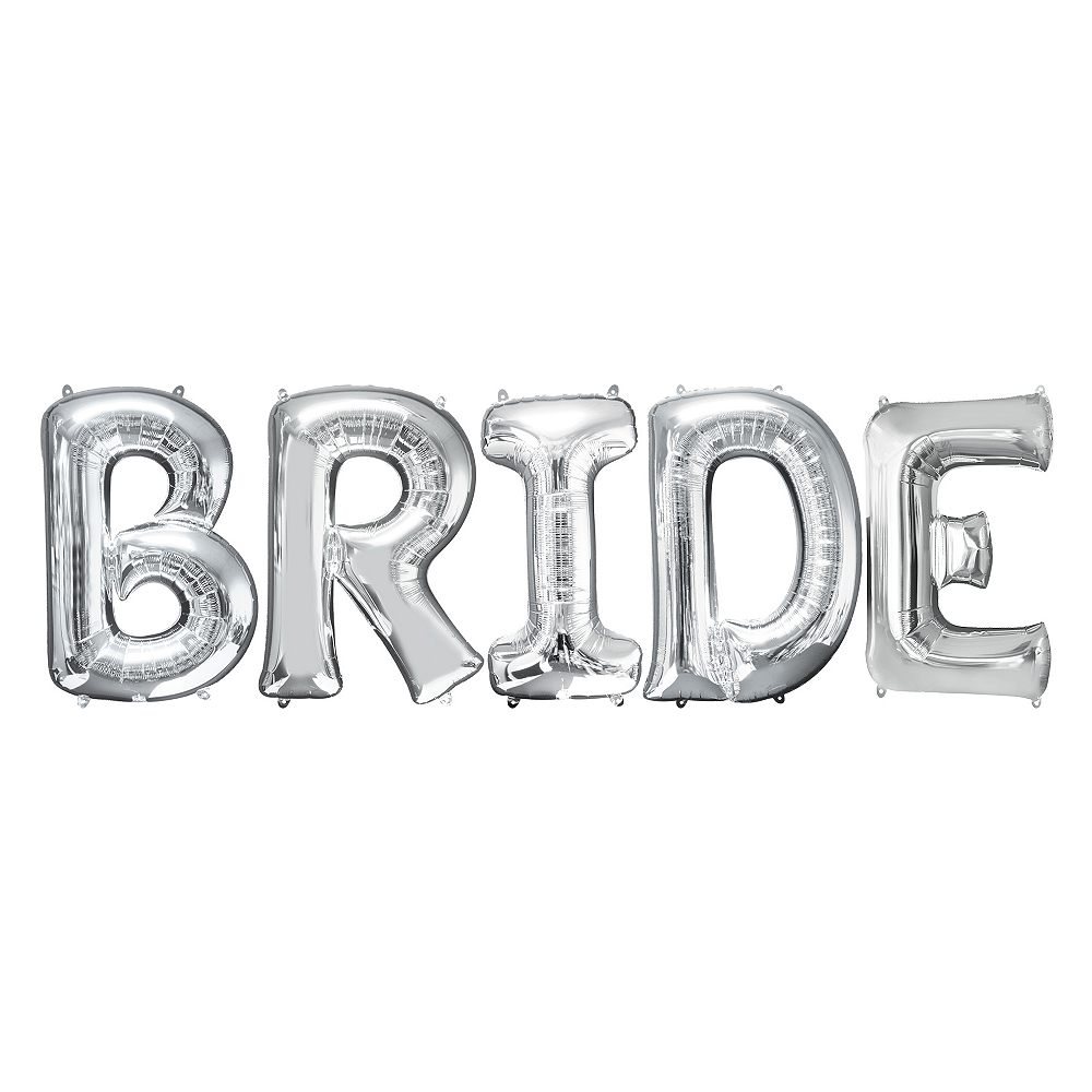 Nav Item for 34in Silver Bride Letter Balloon Kit Image #1