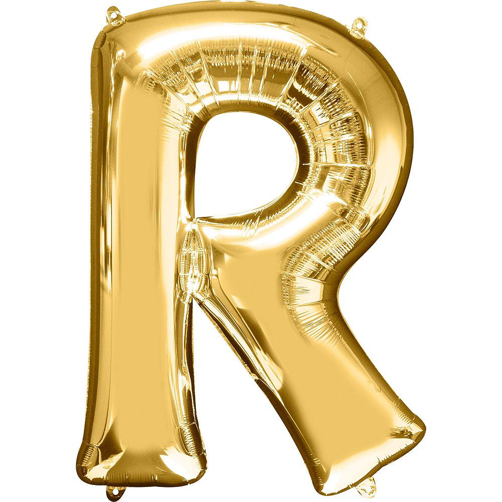 34in Gold Bride Letter Balloon Kit Image #7