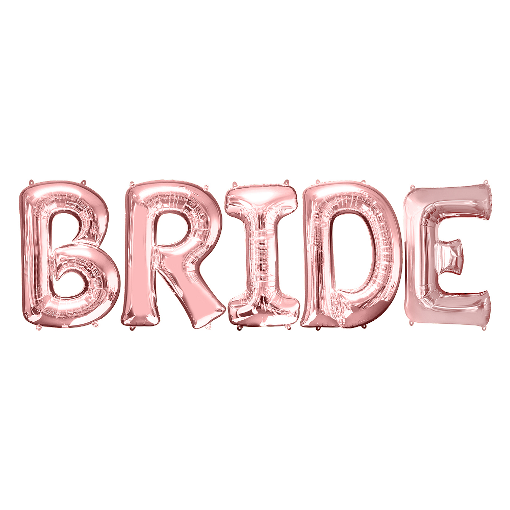 34in Rose Gold Bride Letter Balloon Kit Image #1