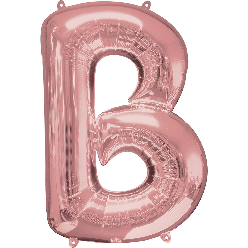 34in Rose Gold Bride Letter Balloon Kit Image #3