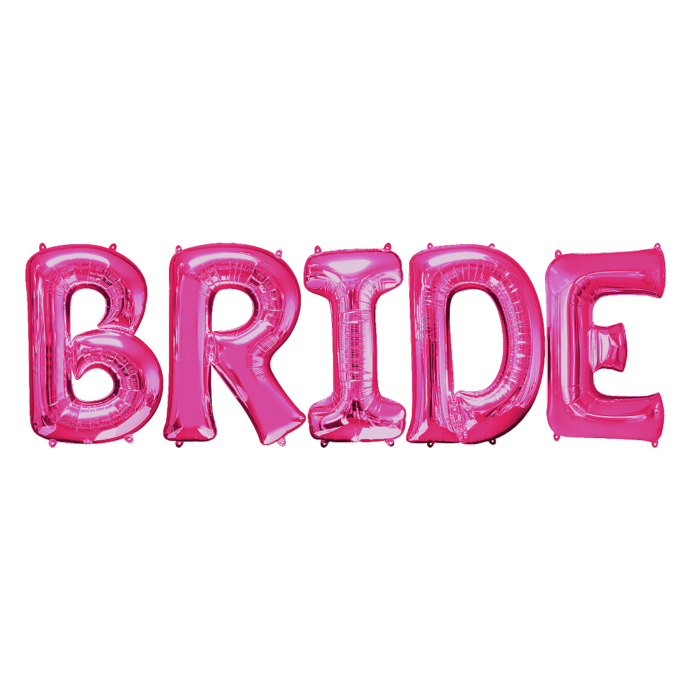 34in Pink Bride Letter Balloon Kit Image #1