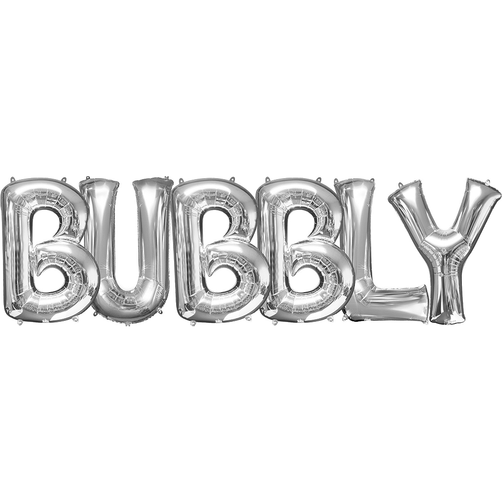 Giant Silver Bubbly Letter Balloon Kit Image #1