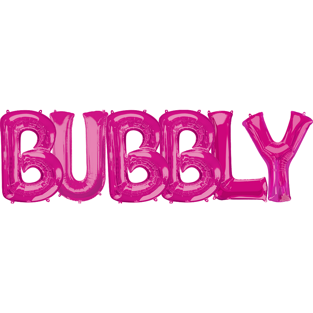 Giant Pink Bubbly Letter Balloon Kit Image #1