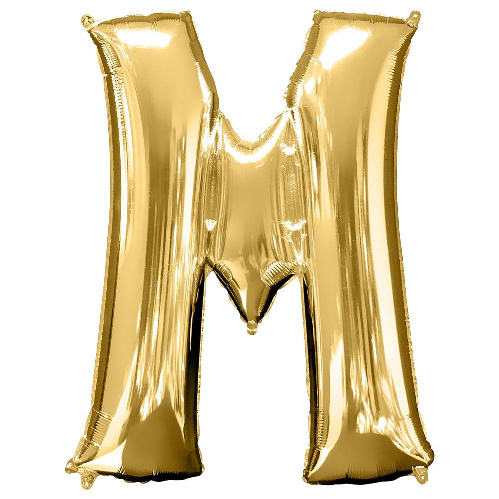 34in Gold Mrs Letter Balloon Kit Image #3