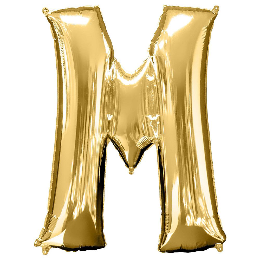 34in Gold Mr Letter Balloon Kit Image #3