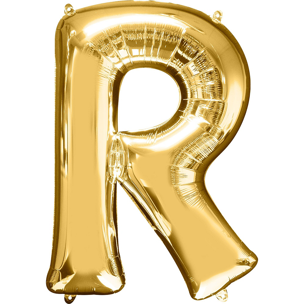 34in Gold Mr Letter Balloon Kit Image #4