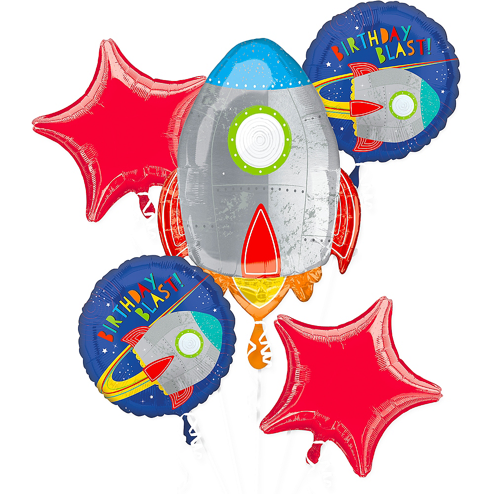 Nav Item for Blast Off Balloon Bouquet 5pc Image #1