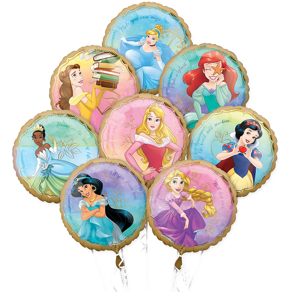 Disney Princess Balloon Bouquet 8pc Image #1