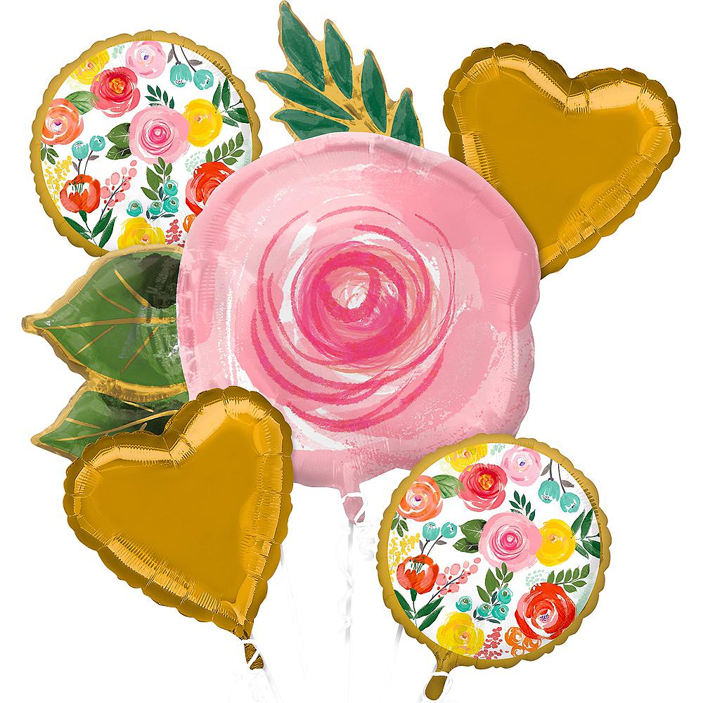 Bright Florals Balloon Bouquet 5pc Image #1